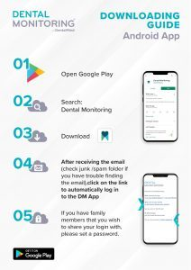 Dental monitoring guide Android